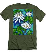 Nymphaea Blue Men's T-Shirt (Athletic Fit)