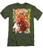 Orange Trumpet Flower Men's T-Shirt (Athletic Fit)