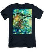 Abstract Art Landscape Circles Painting A Secret Place 2 By Madart Men's T-Shirt (Athletic Fit)