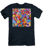 Abstract Colorful Flowers 3 - Paint Joy Series Men's T-Shirt (Athletic Fit)