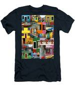 Burano Italy Collage Men's T-Shirt (Athletic Fit)