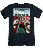 Christmas Card Sunken Garden Men's T-Shirt (Athletic Fit)