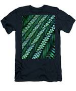Green And Blue Folds Men's T-Shirt (Athletic Fit)
