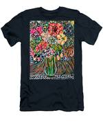 Happy Birthday Flowers Men's T-Shirt (Athletic Fit)