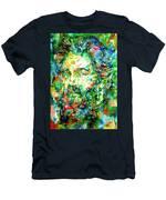 Herman Melville Watercolor Portrait Men's T-Shirt (Athletic Fit)