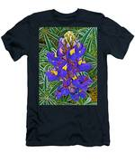 Mountain Lupine In Ancient Incan Pisac In Andes Mountains Above Sacred Valley-peru   Men's T-Shirt (Athletic Fit)