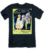 Poodle Art - The Seven Year Itch Movie Poster Men's T-Shirt (Athletic Fit)