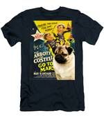 Pug Art - Abbott And Costello Go To Mars Men's T-Shirt (Athletic Fit)