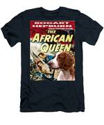 Welsh Springer Spaniel Art Canvas Print - The African Queen Movie Poster Men's T-Shirt (Athletic Fit)
