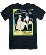 Welsh Springer Spaniel Art Canvas Print - The Seven Year Itch Movie Poster Men's T-Shirt (Athletic Fit)