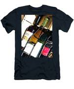 Wine In A Row Men's T-Shirt (Athletic Fit)