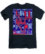Building Facade In Blue And Red Men's T-Shirt (Athletic Fit)