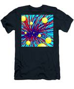 Summer Splat With Yellow Balls Men's T-Shirt (Athletic Fit)