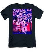 Sunset With Flowers Men's T-Shirt (Athletic Fit)