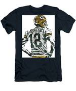 Aaron Rodgers Green Bay Packers Pixel Art 5 Men's T-Shirt (Athletic Fit)