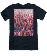 American Flags In Tampa Men's T-Shirt (Athletic Fit)