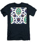 An Iznik Polychrome Tile, Turkey, Circa 1575, By Adam Asar, No 23h Men's T-Shirt (Athletic Fit)