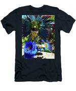 Aztec Costumed Dancer Men's T-Shirt (Athletic Fit)
