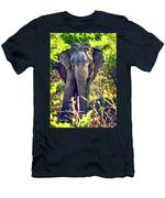 Bull Elephant Threat Men's T-Shirt (Athletic Fit)