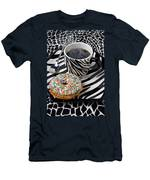 Coffee And Donut On Striped Plate Men's T-Shirt (Athletic Fit)