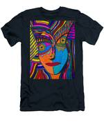 Earth And Aqua Mask - Abstract Face Men's T-Shirt (Athletic Fit)