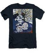 Horse Dreaming Below Trees Men's T-Shirt (Athletic Fit)