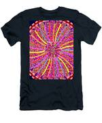 Infinity Star Flower An Abstract Fineart Expression By Navinjoshi At Fineartamerica.  Colorful Fun Men's T-Shirt (Athletic Fit)