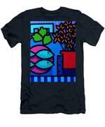 Limes Fish Flowers Men's T-Shirt (Athletic Fit)