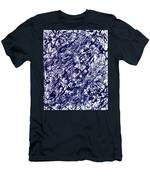 Moveonart Black And White Textured 2 Men's T-Shirt (Athletic Fit)