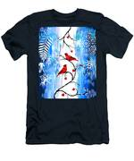 Romance In The Snow Men's T-Shirt (Athletic Fit)