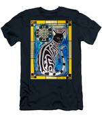 Silver Tabby With Mandala - Cat Art By Dora Hathazi Mendes Men's T-Shirt (Athletic Fit)