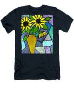 Sunflowers In A Vase Men's T-Shirt (Athletic Fit)