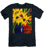 Sunny Flowers Men's T-Shirt (Athletic Fit)