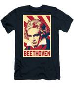 Ludwig Van Beethoven Retro Propaganda Men's T-Shirt (Athletic Fit)