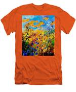 Blue Cornflowers 450408 Men's T-Shirt (Athletic Fit)
