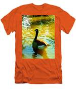 Duck Swimming Away Men's T-Shirt (Athletic Fit)