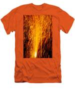 Fireworks Fountain Men's T-Shirt (Athletic Fit)