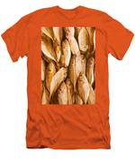 Fish Pattern On Wood Men's T-Shirt (Athletic Fit)