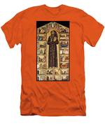 St Francis Of Assisi Men's T-Shirt (Athletic Fit)