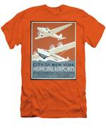 City Of New York Municipal Airports Men's T-Shirt (Athletic Fit)