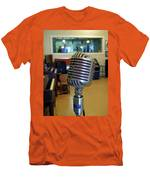 Elvis Presley Microphone Men's T-Shirt (Athletic Fit)
