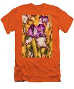 Flower - Iris - Diafragma Violeta Men's T-Shirt (Athletic Fit)
