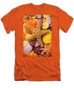Starfish And Seashells  Men's T-Shirt (Athletic Fit)