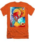Tickle My Fancy Original Whimsical Painting Men's T-Shirt (Athletic Fit)