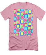 Circles And Squares Men's T-Shirt (Athletic Fit)