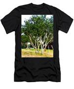 Trees In A Suburban Neighborhood In Summer Men's T-Shirt (Athletic Fit)