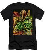 Cadiaeum Crotons Tropical Houseplant Shrub Men's T-Shirt (Athletic Fit)