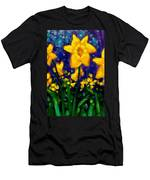 Dancing Daffodils Cropped  Men's T-Shirt (Athletic Fit)