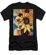 Dooley's Sunflowers Men's T-Shirt (Athletic Fit)