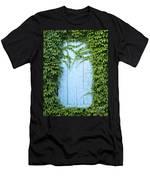 Door Framed By Plants Men's T-Shirt (Athletic Fit)